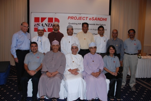 Director's of Khimji Ramdas, KR eSANDHI team along with Project associates from