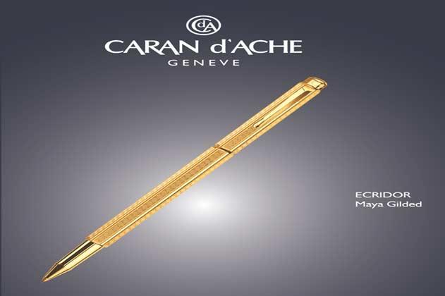 The Caran d'Ache Ecridor Maya Gilded