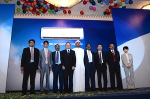 After the launch KR Team members and Fujitsu General invitees on the stage