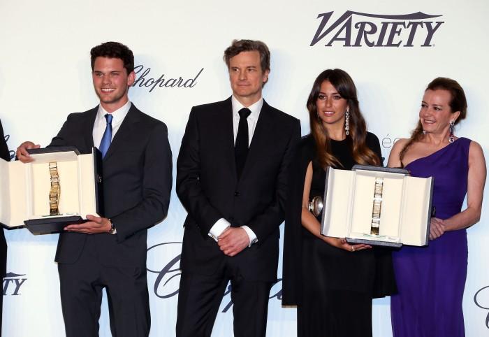 Jeremy Irvine, Colin Firth, Blanca Suarez and Caroline Scheufele - Trophée Chopard 2013