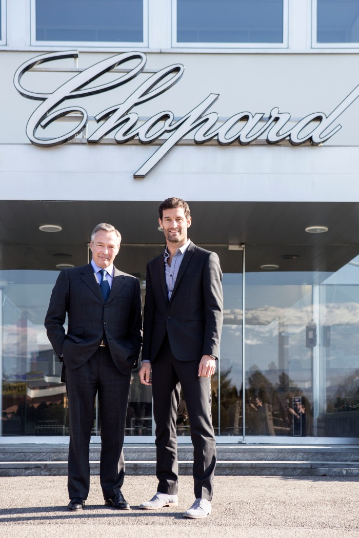 Mark Webber and Karl-Friedrich Scheufele 2 ¬JohannSauty-Chopard