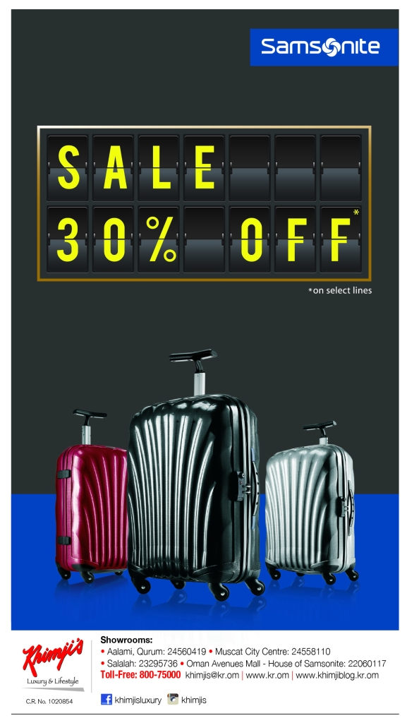 11126 samsonite-oman sale offer ad-times of oman-14x24cm-OL